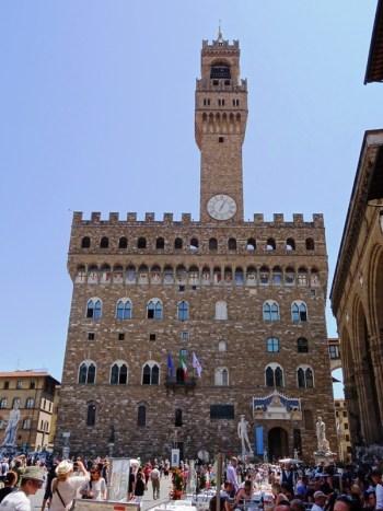 The Palazzo Vecchio.