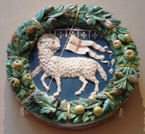 Symbol of the Arte della Lana from the Della Robbia workshop (ca. 1487).