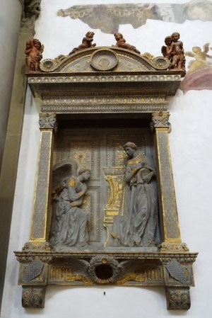 Annunciation by Donatello.