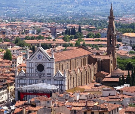 The Santa Croce, seen from the tower of the Palazzo Vecchio.