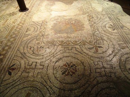 Late Antique mosaic floor in the Santa Reparata.