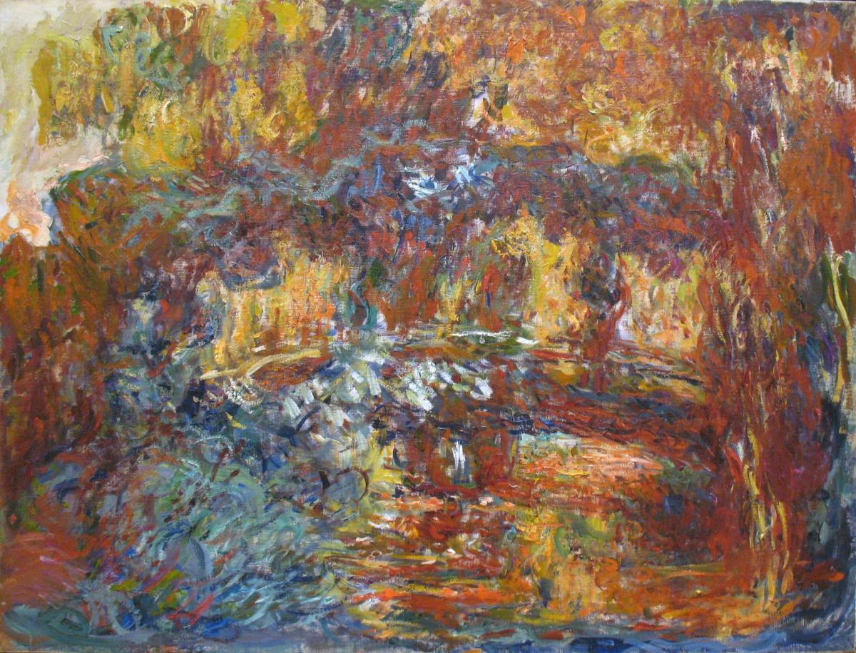 The Japanese Footbridge, by Claude Monet — modeling