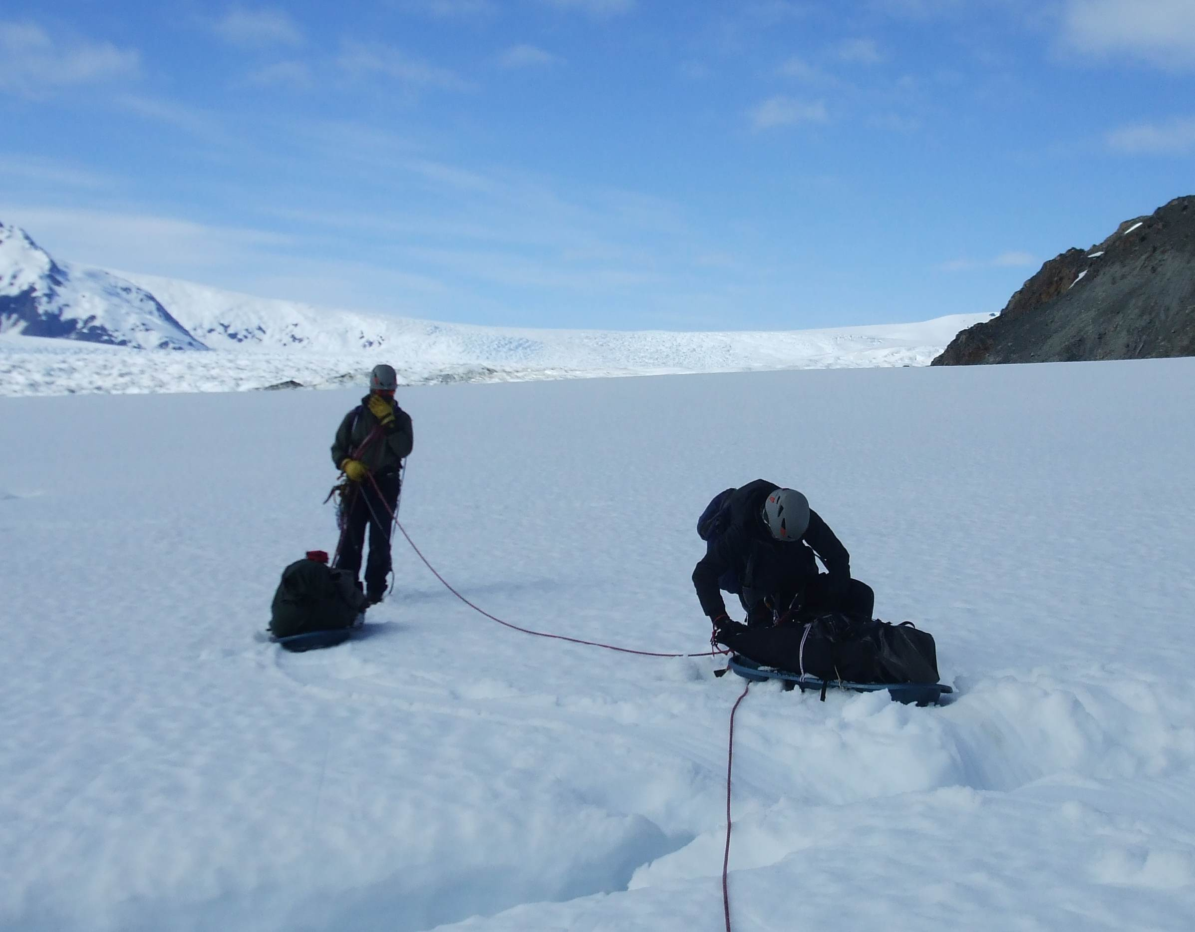 17 Small crevases on way up to ice sheet