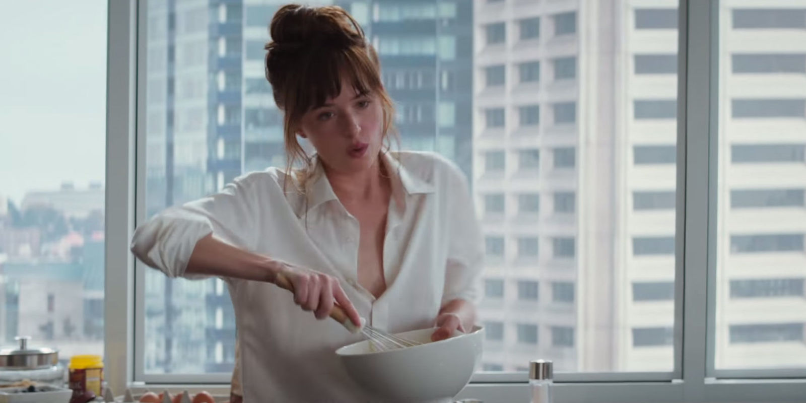 Watch Christian Catch Ana Cooking in the Latest Fifty