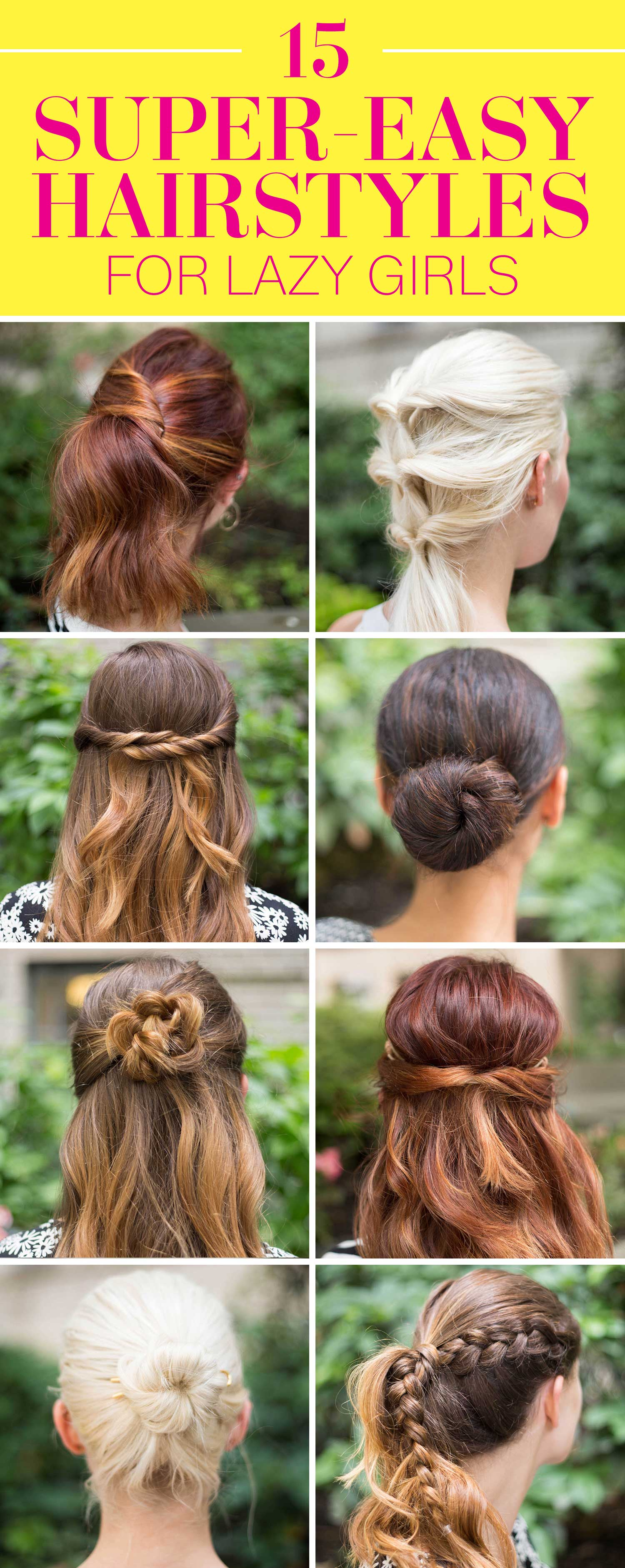 15 Super Easy Hairstyles for Girls in 2016  Three Step Hairstyles for Girls