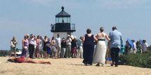 Suntanning Woman Care Move Beach Wedding