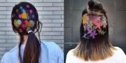 showcasing stencil hair