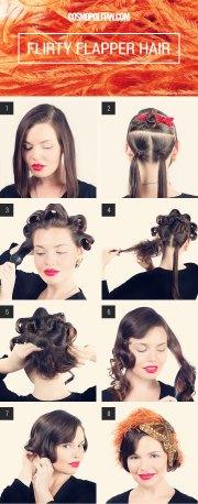 flapper girl hair halloween