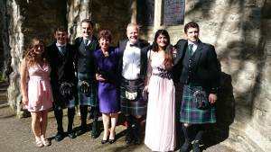 Meghan Davis, a BNS major, attended a wedding in Glasgow while on co-op.