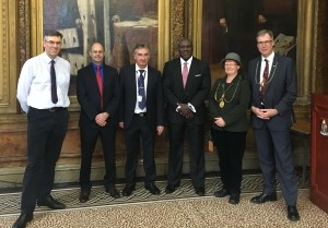 Dean Kenneth Henderson, second from left, with other guests of the Universities of Scotland Inorganic Chemistry Conference. (courtesy photo)