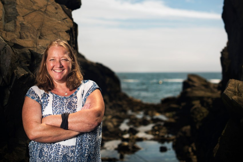 Jennifer Bowen, Associate professor in the Department of Marine and Environmental Sciences, poses for a portrait at the Marine Science Center campus in Nahant, Massachusetts