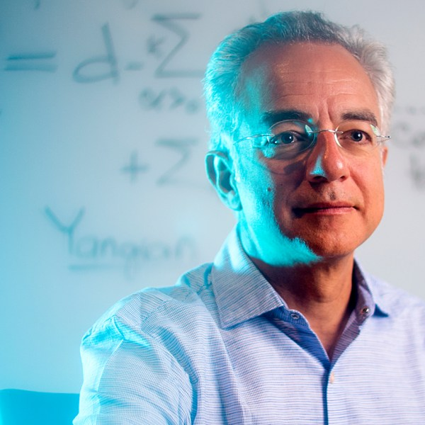 As mathematics professor Valerio Toledano Laredo will tell you, symmetry is more complicated than you might think. But the theory that underlies it might make the world a little simpler to understand. Photo by Matthew Modoono/Northeastern University