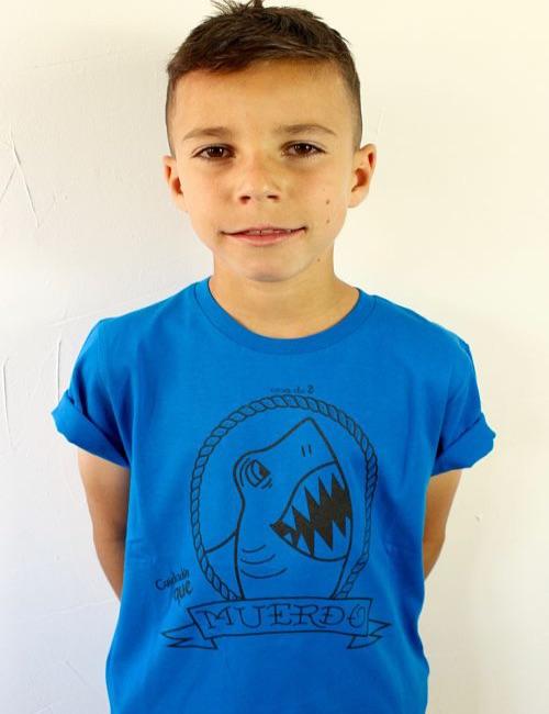 """Camiseta para niños """"Cuidadín que muerdo"""""""