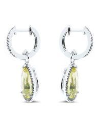 Drop Earrings in 14k White Gold | Cosanuova