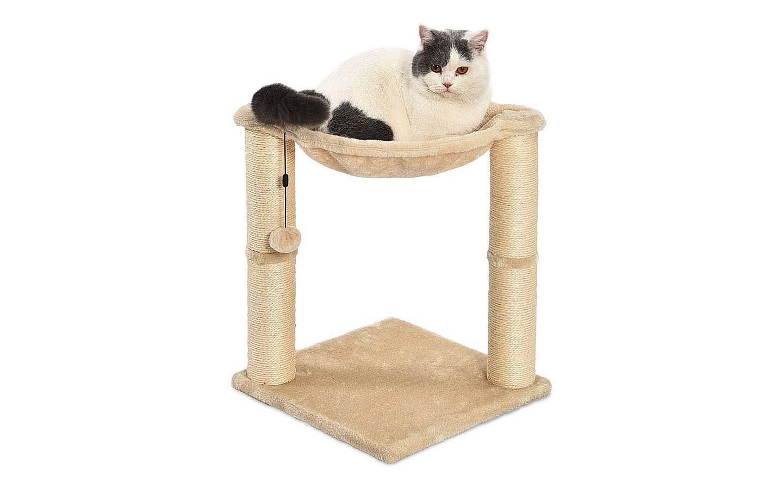 Poste rascador y hamaca para gatos AmazonBasics 3