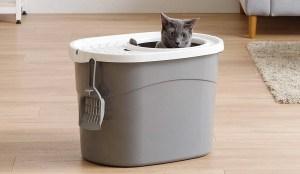 Higiénico arenero para gatos con entrada superior de IRIS 1