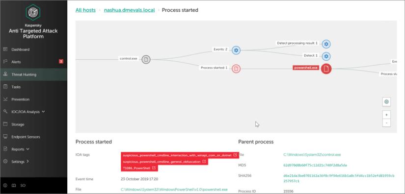 Herramientas EDR para detectar ataques cibernéticos - Kaspersky Anti Targeted Attack