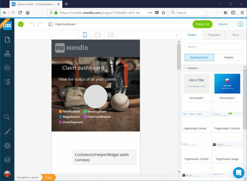 Herramientas de desarrollo low code: Mendix Web Modeler