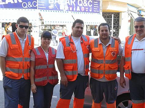 Los miembros de Cruz Roja siempre dispuestos