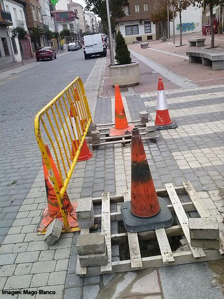 Calle cortada.