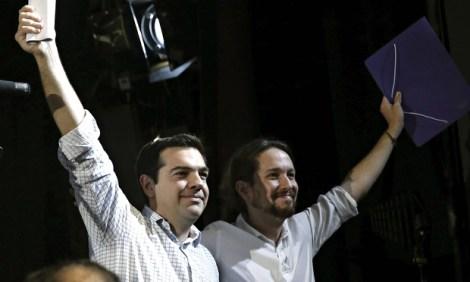 Alexis Tsipras and Pablo Iglesias