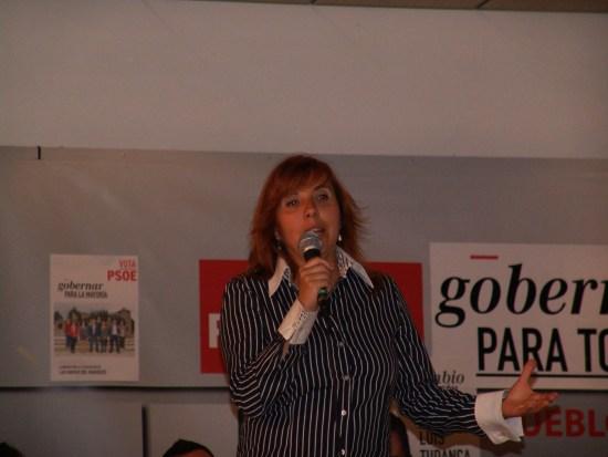 María José, candidata del PSOE navero