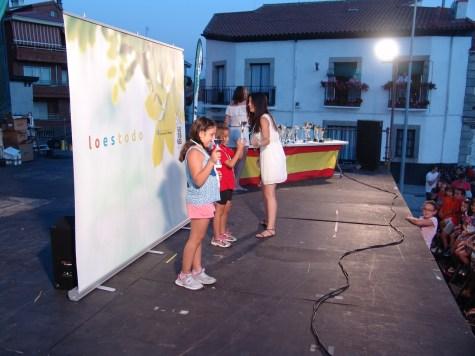 """NIÑAS DE 5 A 7 AÑOS-1ª-Carla Blazquez;2ª Ainoa Lopez;3ª Alejandra Esteban (Sentimos que la 3ª clasificada """"se nos escapo• de la foto)"""