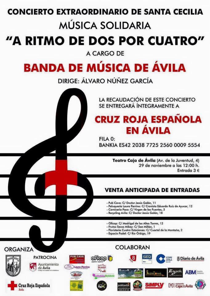 Cartel Concierto Banda Música Avila 29N
