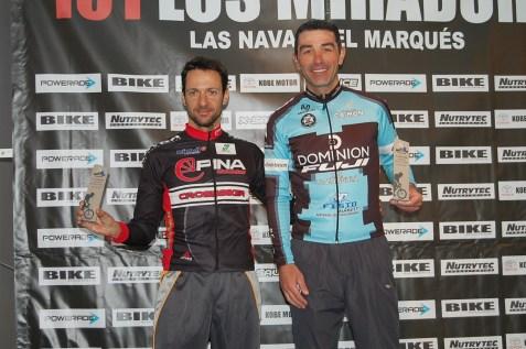 MASTER 40 101 KM. 1. Eleuterio Anguita 2. Alfredo Padilla 3. Alberto Blázquez (ausente)