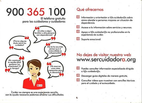 Orientación y apoyo a cuidadores no profesionales de Cruz Roja