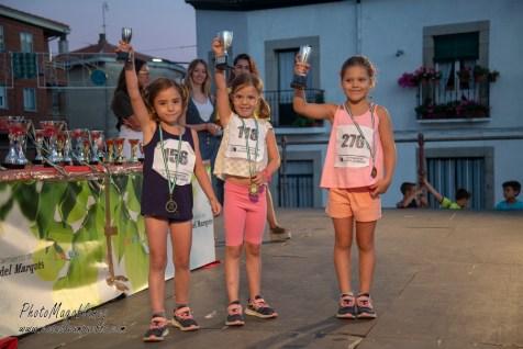 NIÑAS 5 Y 6 AÑOS:1ª 276 Paula Bueno, 2ª 118 Carla Azañedo, 3ª Elena Frechi