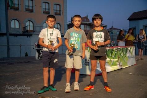 NIÑOS DE 7 Y 8 AÑOS: 1º 135 Lorenzo Peña, 2º 17 Antonio Gongora, 3º 454 Marcos Mosulen