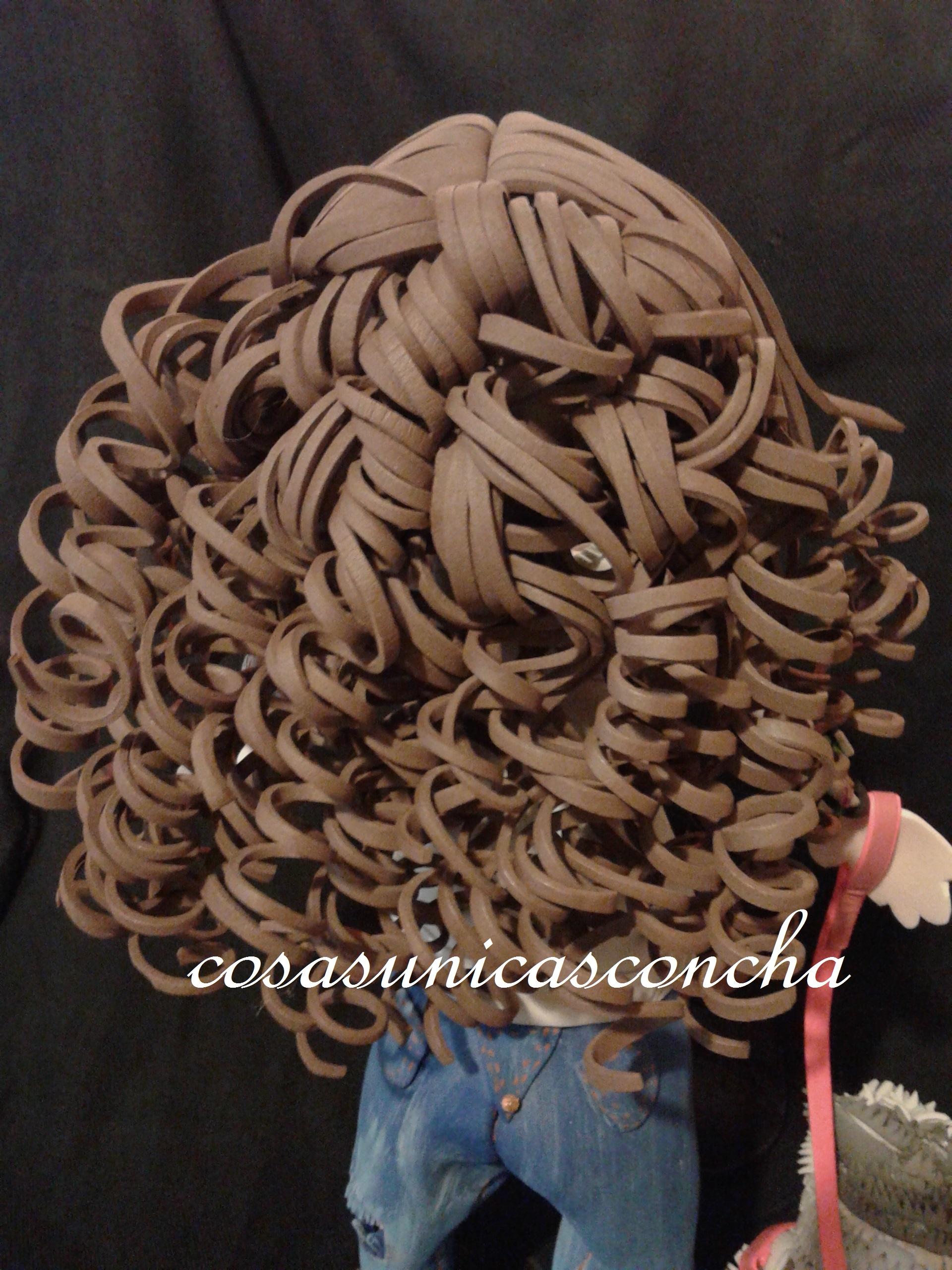 193 Peinado De Pelo Rizado De Fofucha