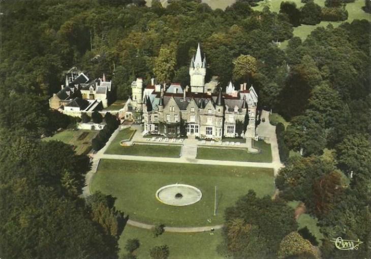 Vista aérea del antiguo castillo