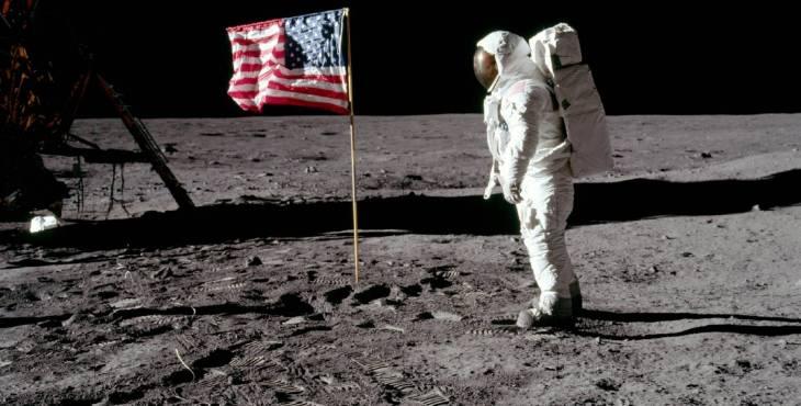 El día que el hombre llegó a la luna.