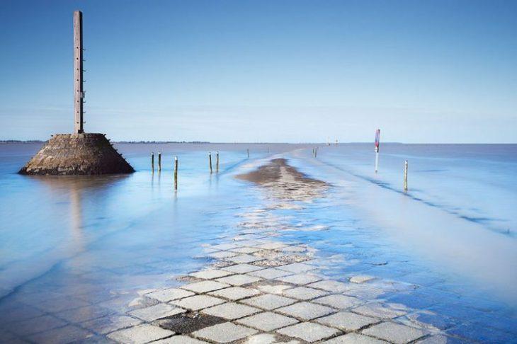 El Paso de Gois, es muy peligroso, ya que se inunda cuando sube la marea.