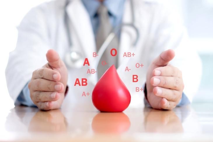 Distintos tipos de sangre.