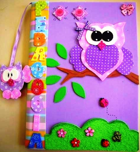 Cuaderno decorado buho