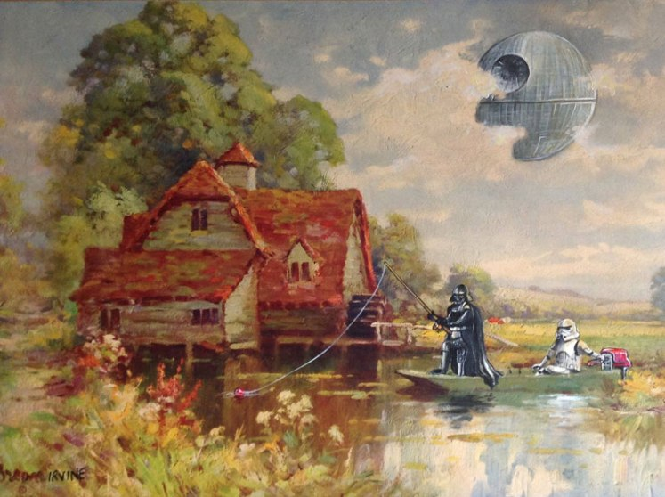 darth vader and storm trooper