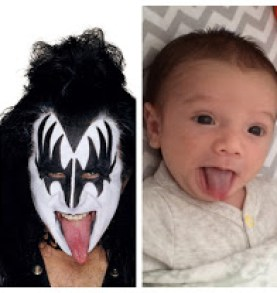 Miles and Gene Simmons