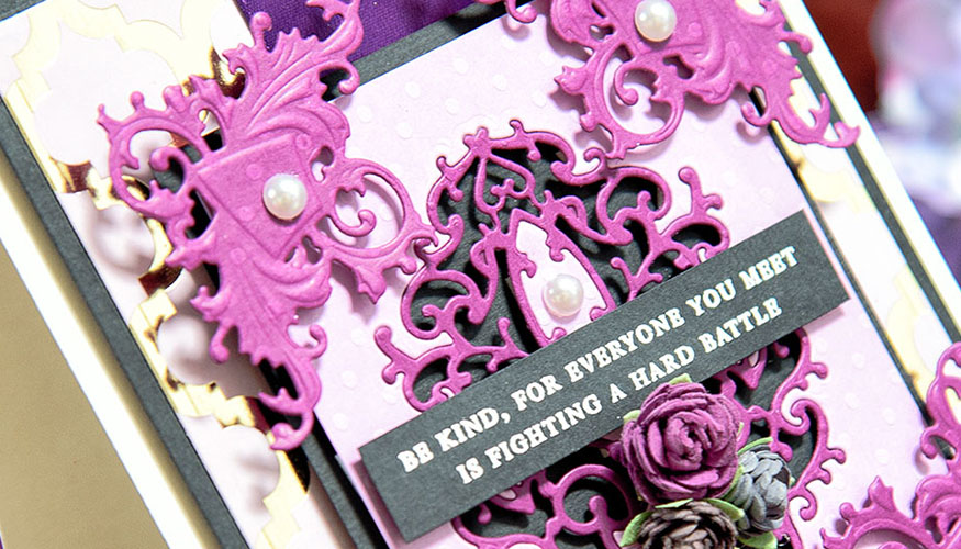 Be Kind Card Tutorial with Rebel Rose Collection by Stacey Caron Close Up Image