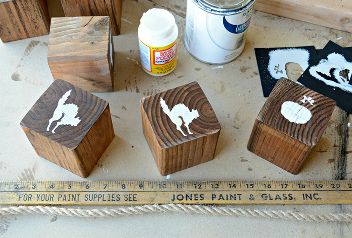 How to Create a Perfect DIY Wooden Halloween Tic Tac Toe Game by Miranda Webster Step 6