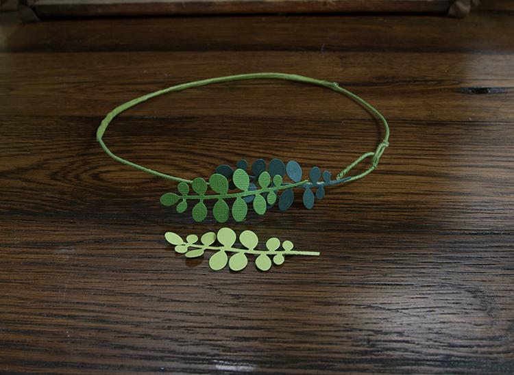Trendy Flower and Leaf Garland Headband Tutorial: Step 4