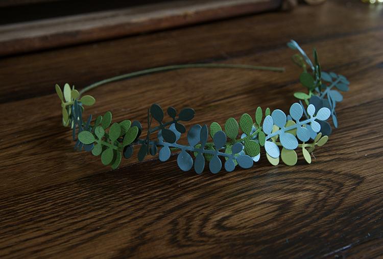 Trendy Flower and Leaf Garland Headband Tutorial: Step 5