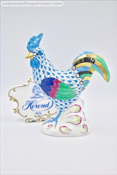 Herend Cockerel Blue