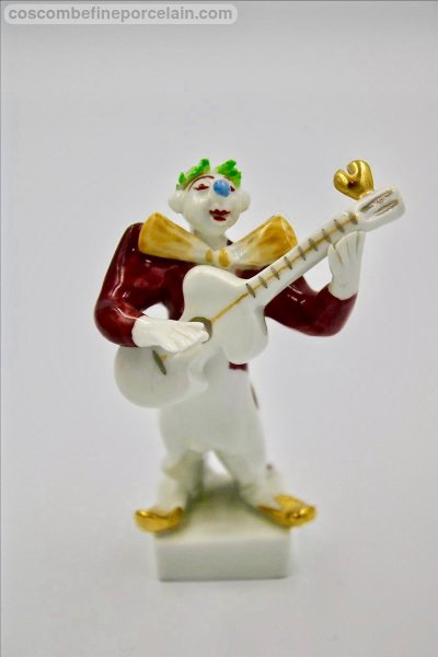 Meissen Clown Guitarist