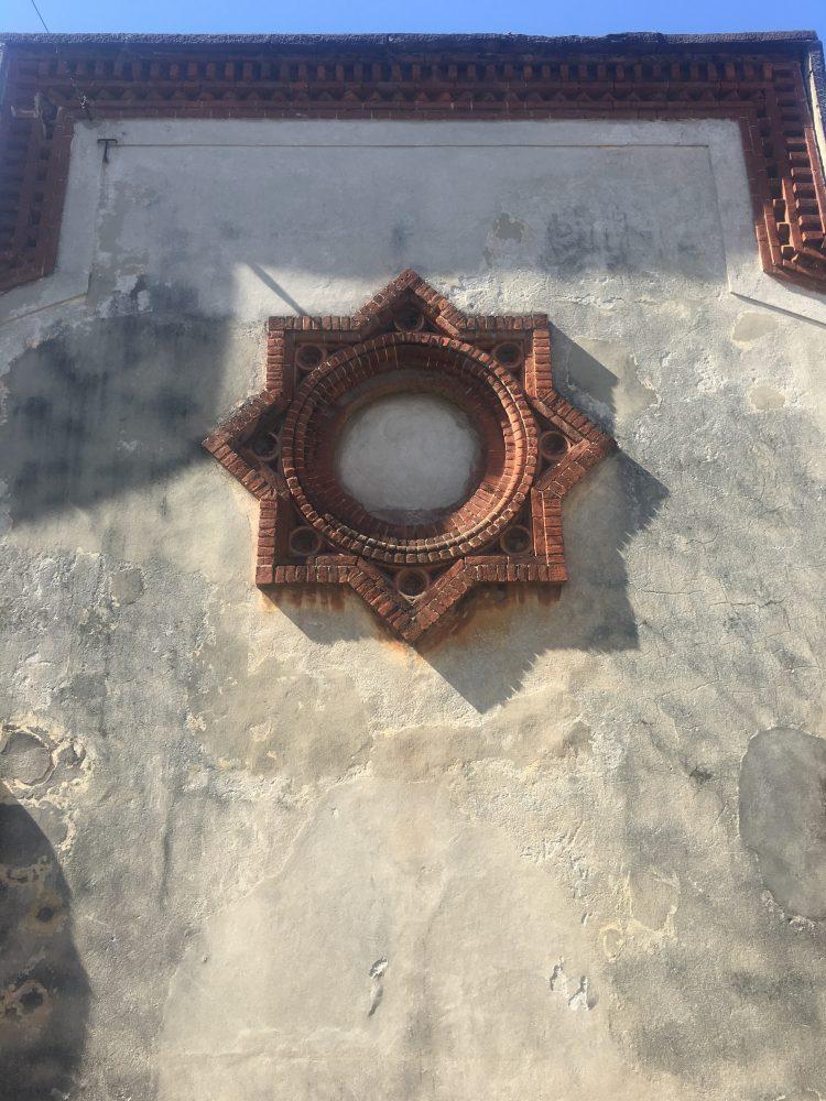 Simbolo della Città ideale Sforzinda a Crespi d'Adda