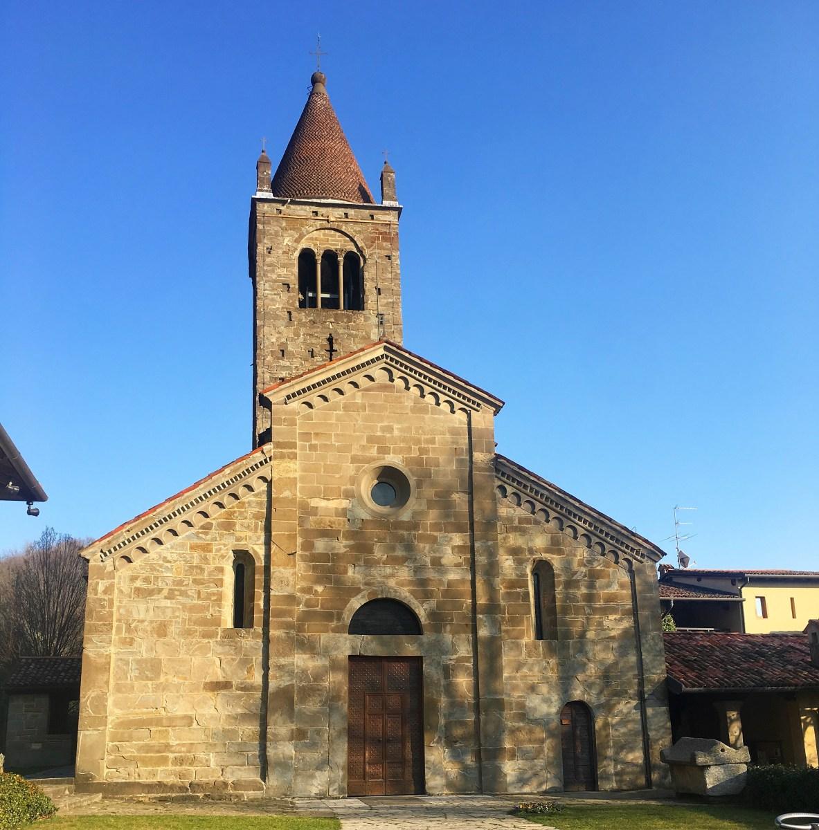All'abbazia di Fontanella, immaginando di incontrare Adso da Melk e Guglielmo da Baskerville