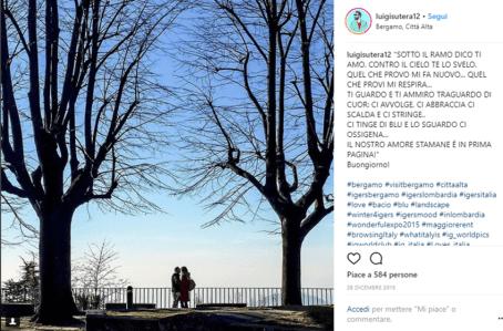 Luigi Sutera fotografa una coppia sulle Mura Venete