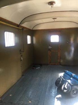 Interno del vagone merci